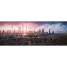 Futurisztikus gigapolisz sci-fi témájú kép