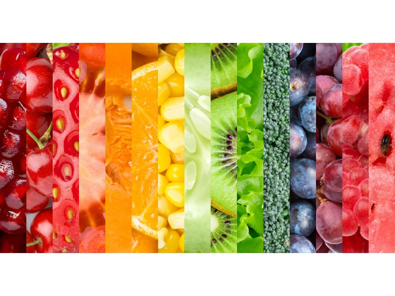Egészséges ételek konyhai vászon falidísz