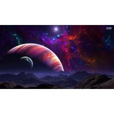 Galaktikus tájkép - Sci-fi vászonkép és poszter