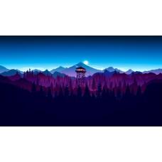 Ázsiai erdeti tájkép (illusztráció)  vászonposzter
