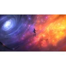 Űrhajós a csillagörvényben Sci-fi témájú kép