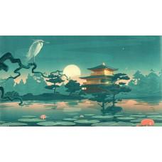 Japán csendélet festett vászonkép