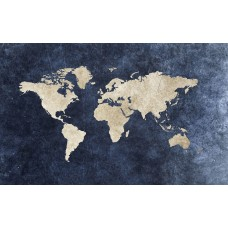 Rusztikus világtérkép vászonkép