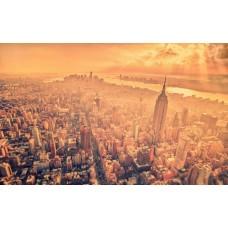 New York a ködben - vászonkép