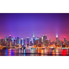 New York - Manhattan félsziget vászonposzter