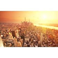 Manhattan félsziget a levegőből vászonkép