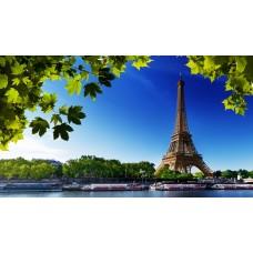 Eiffel torony és a Szajna vászonkép