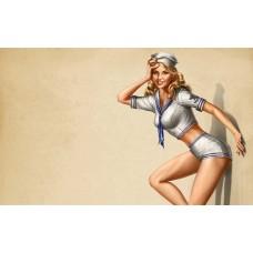 Szőke matróz pin-up girl poszter