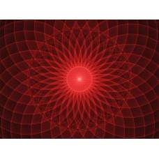 Piros mandala vászonfotó