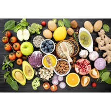 Egészséges ételek konyhai vászonkép