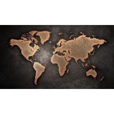 Világtérkép vászonképen