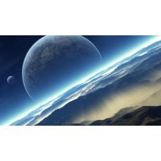 Bolgyók a felhők felett - Sci-Fi témájú kép