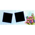 Virágos két ablakos anyák napi bögre