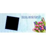 Virágos egy ablakos anyák napi bögre