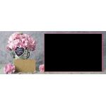 Egy ablakos anyák napi bögre virágokkal